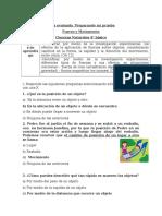 Guía Fuerza y movimiento Ciencias 4° basicos