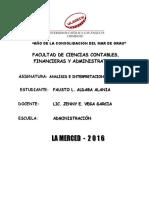 Resumen de La Reexpresión y Consolidación de Los Estados Financieros_fausto_uladech_analisis e Interpretacion de Ee. Ff.
