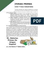 MATERIAS-PRIMAS