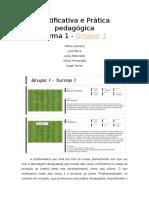 Relatório Ação Formação Iniciação Futebol