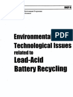Environmental & Technological Issues Related to Lead-Acid Battery Recycling - UNEP