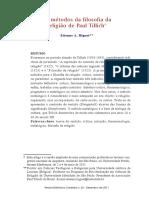 Os Métodos Da Filosofia Da Religião de Paul Tillich