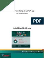 How to Install ETAP 16