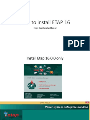 How to Install ETAP 16