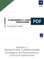Planeamiento y control de operaciones