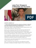 Mahasiswa Yang Teror Singapore Airlines Bisa Dikenakan UU Terorisme