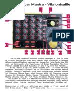 Vibrionicalife operations Manual