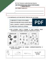 Língua Portuguesa - 1º Bimestre