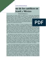 Bernardo Barranco v. Desplome de Los Católicos en Brasil y México