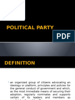 (GROUP 3) Political Party pptx