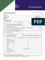MSR Application Form