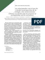 Area de Psicopatologia Los Trastornos Relacionados Con El Uso de Sustancias Desde La Perspectiva de La Psicopatología y Las Neurociencias