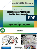 Promosi Gizi - Pertemuan XI - Pengembangan Material Gizi & Alat Bantu Mengajar