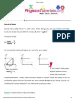 Density of Matter