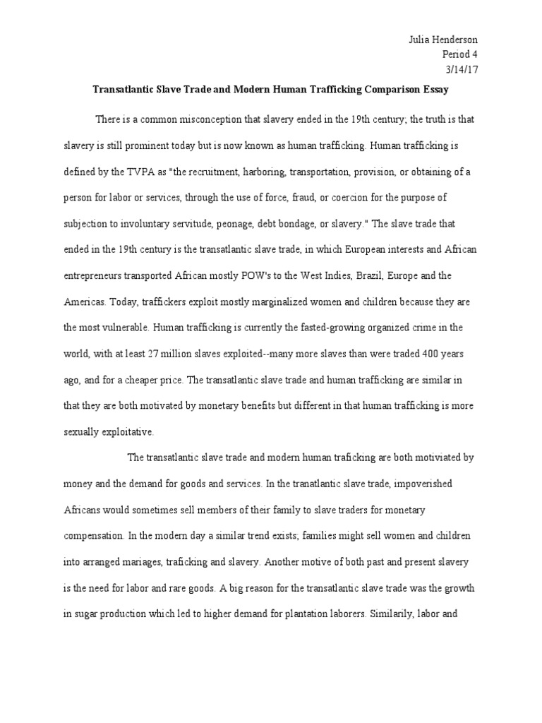 human trafficking thesis statement Download thesis statement on human trafficking and forced child prostitution in our database or order an original thesis paper that will be written by one of our.