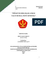 Refka Fraktur Dislokasi ANkle Talocrural Joint SInistra