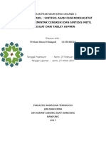 Laporan Esterifikasi Fenol Fitri (Autosaved)