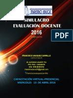 Simulacro Evaluación Docente 2016