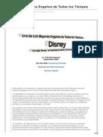 Disney, Uno de Los Mayores Engaños de Todos Los Tiempos
