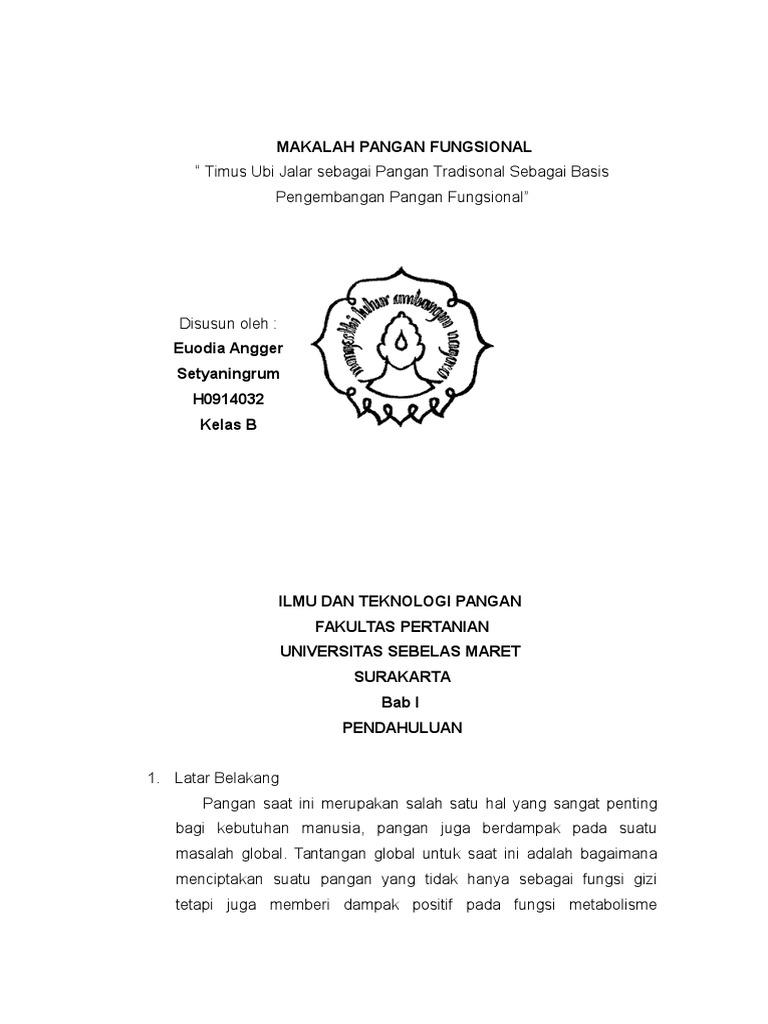 MAKALAH PANGAN FUNGSIONAL