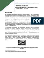 Análisis Comparativo de Contaminación Atmosférica Entre La Ciudad de El Alto y Lima