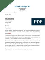 Sponsorship Letter Template for Politicians