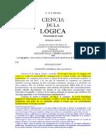 Hegel Ciencia de La Logica Introduccion Comentada