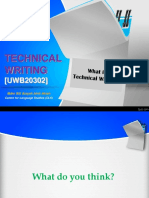 Week 1 - What is Technical Writing