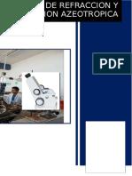 Refractometro y Destilacion Azeotropica