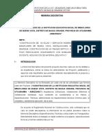 Mem. Descript. Construccion de La i.e.i. de Miraflores de Buena Vista, Distrito de Bagua Grande-utcub.