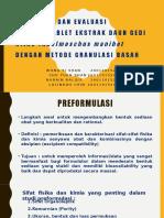 Formulasi Dan Evaluasi Sediaan Tablet Ekstrak Daun Gedi Hijau (Abelmoschus Manihot) Dengan Metode Granulasi Basah