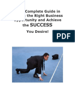 Your Complete Guide in Finding the Right Business Opportunity 2011 34p