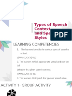 Speech Context and Speech Styles Final