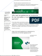 1 Porque Los Gobiernos Se Interesan en Produccion y Mercado Agropecuario