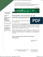 3 Principales Instrumentos de La Politica Agropecuaria