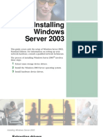 How to Install Windows 2003 Server
