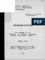 62649 Les Editions de La Reunion Des Musees Nationaux Evolution Transformation Mutationmemoire d Etude