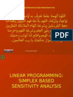 L06a MGT 3050 Linear Programming - Simplex Based Sensitivity Analysis