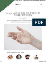 Beyond SmartPhones - The Internet of Things_Next Digital Revolution