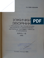 I. L. Isailovic, O Poreklu Toponima Uzickog Kraja