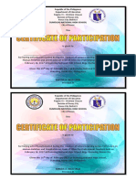 Certificate of Participation-human Relation and Code of Ethics