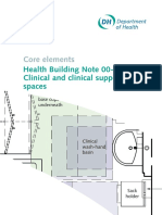 Health Building Note 00-03- Clinical and Clinical Support Spaces