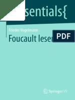 (Essentials) Frieder Vogelmann-Foucault Lesen-Vs Verlag Für Sozialwissenschaften (2017)