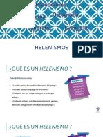 Presentación Power Point sobre helenismos.