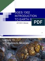SGES 1302 Lecture13 Mtex15 Minerals