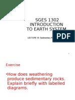SGES 1302 Lecture16-Mt15nexercise-Sedimentary Rocks