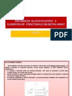 c9- Deformația Elasto-plastică a Elementelor Structurale Din Beton