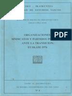 1976 Euskadi Partidos y Sindicatos