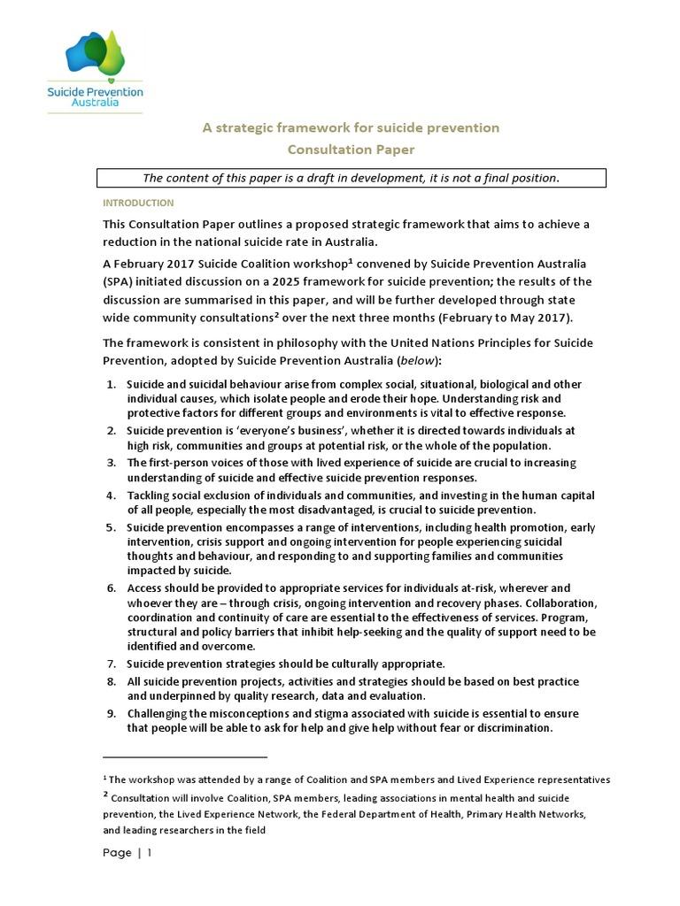 suicide prevention consultation