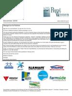 December 2009 Rural Bulletin, Rural Women New Zealand